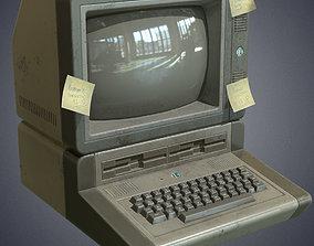 Computer retro 3D model