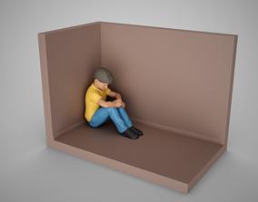 3D print model Thoughtful Boy