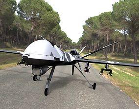 Raptor Unmanned Drone for Poser 3D