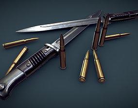 Mauser 98k bayonet 3D asset