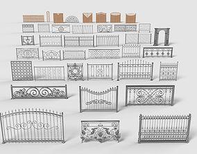 net Fences - 39 pieces - collection-4 3D model
