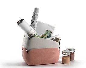 set 3D model Restore Storage Basket Composition