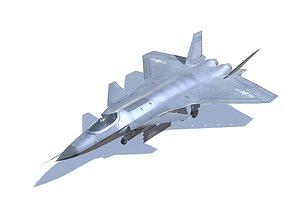 J-20 Black Eagle Jet Fighter Aircraft 3D model