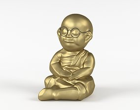 Little monk 3D print model decor