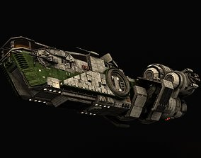 Star Wars Light freighter Acklay 3D model animated