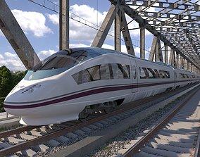 High-speed Electric Train Siemens Velaro AVE 3D model 1