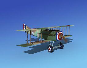 SPAD VII 3D model animated