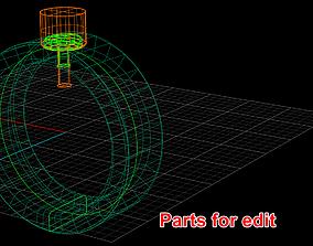 Zukib - 0005 - Ge-0000 - Screws ring 3D printable model