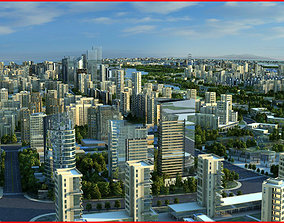 Modern City Animated 111 3D model