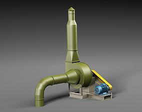 Industrial ventilation system 3D model