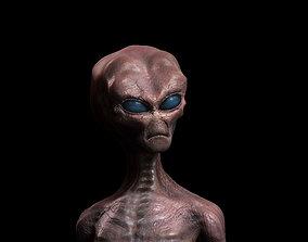 alien 3D character hi-poli