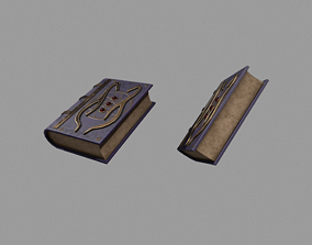 Spellbook 3D asset game-ready