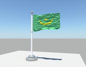 Mauritania flag 3D model