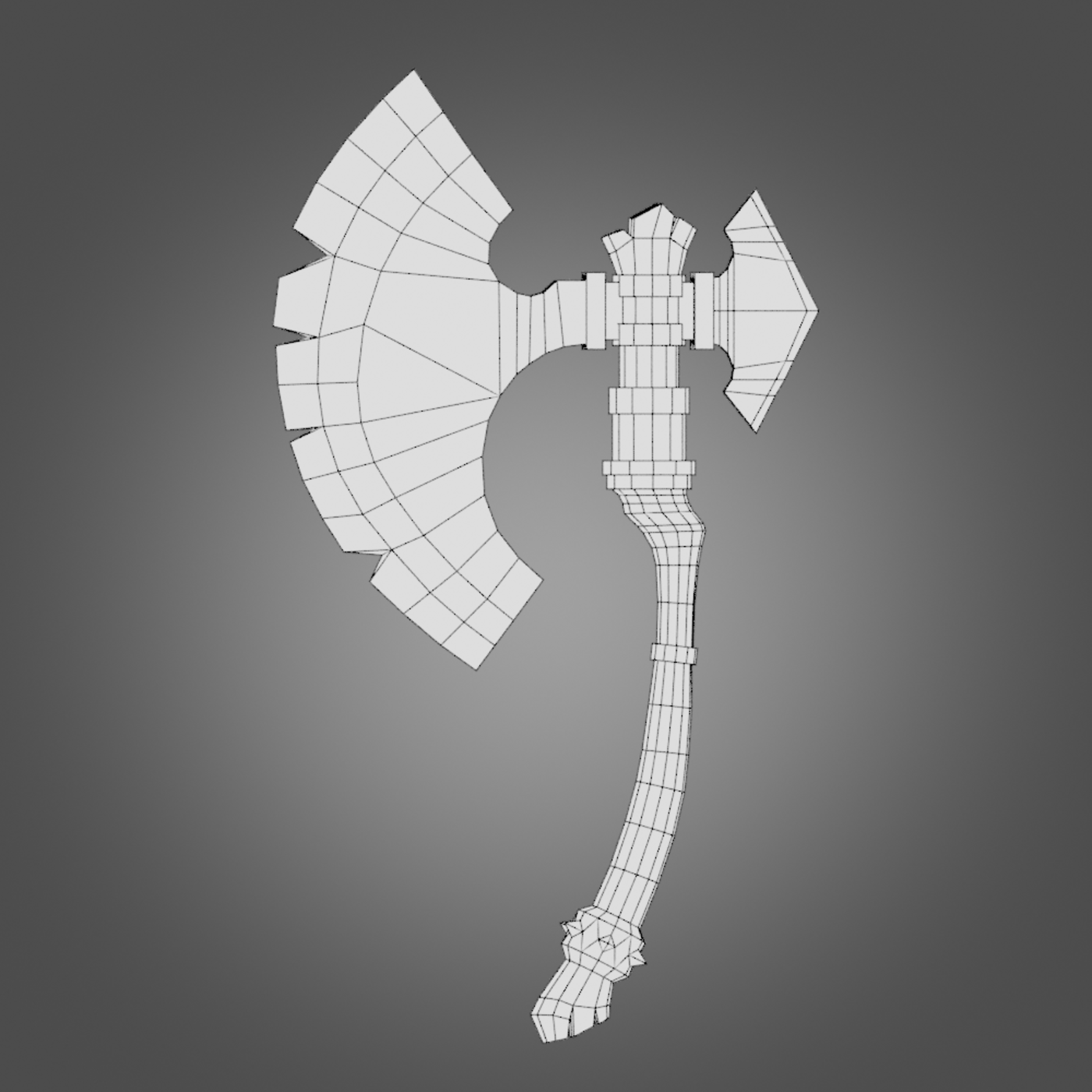 Hand Paint Lowpoly Gameready Ax Low-poly 3D model