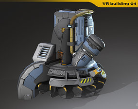 3D model VR building 04 - Animated