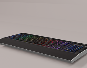 Keyboard Gaming Low-poly 3D model Low-poly 3D realtime