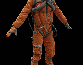 Astronaut 3D rigged rocket
