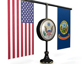 Flag-USA-Sovereign for Visualization ALL 50 States 3D