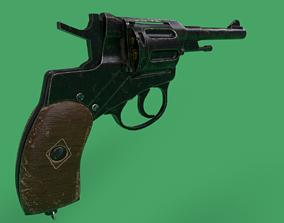 3D model VR / AR ready Nagant Revolver Gun