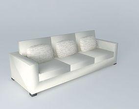 3D model Milano, white sofa