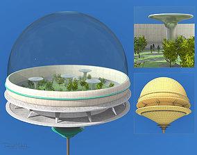 Futuristic Architecture Skyscraper 09 3D model