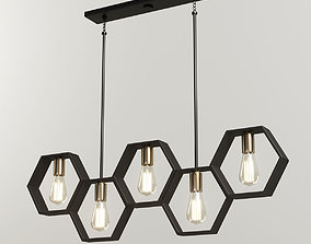 3D model Modern Hexagon Linear Chandelier