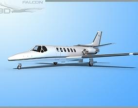 Falcon3D Citation V C560 F10 rigged