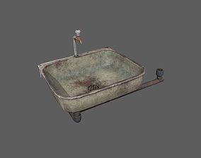 Retro Old Washbasin 3D asset