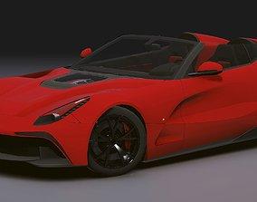 3D model Realistic Mobile Car 09 Ferrari F12 TRS