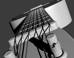 3D model simple acoustic guitar