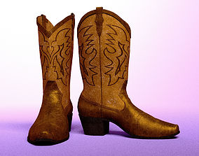 Cowboy Boots 3D model animated