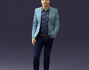 Man in blue jacket 0194 3D Print Ready