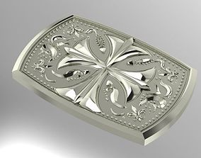 3D printable model belt buckle