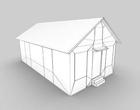 Abandoned Cottage House 3d model