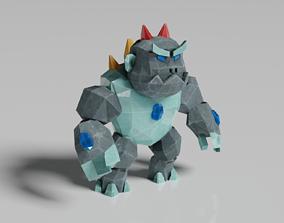 3D asset Golem Warrior