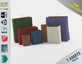Paper Bags Gral1 3D model low-poly