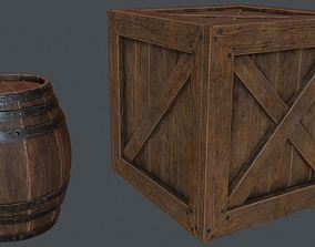Crate and Barrel 3D asset