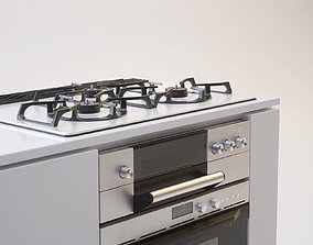 japanese Gas Range Cooker 3D
