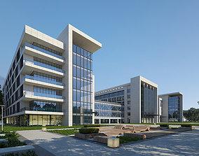 Exterior Office Building Scene 055 3D