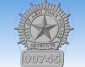3D print model New York police detective badge