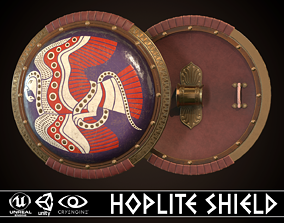 3D asset realtime Hoplite Shield Bird