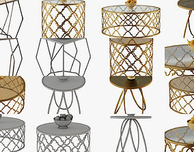 Collection of coffee tables with pears 3D model quiri