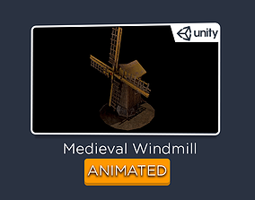 Windmill - Medieval ANIMATED 3D model