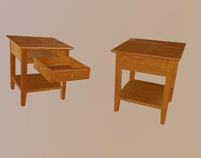 3D model rigged Bedside Table