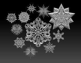 star snowflake low 3D printable model