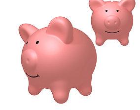 3D model cartoon Piggy Bank