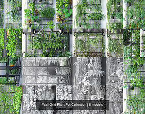 3D Wall Grid Plant Pot Collection