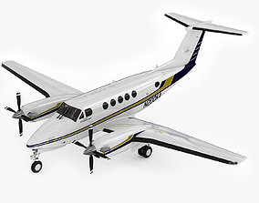 3D model Beechcraft King Air 200