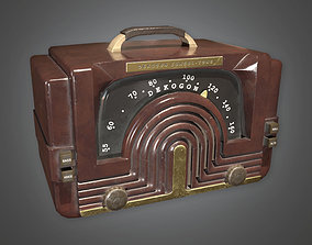 3D model Radio Art Deco - DKO - PBR Game Ready