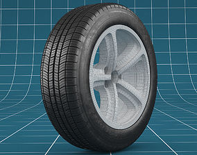 3D model Car tire scratches 05